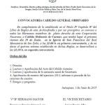 CONVOCATORIA CABILDO GENERAL ORDINARIO.